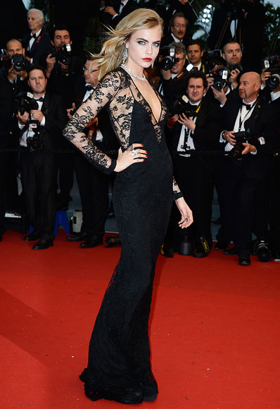 Model Cara Delevingne attends the Opening Ceremony and 'The Great Gatsby' Premiere during the 66th Annual Cannes Film Festival at the Theatre Lumiere on May 15, 2013 in Cannes, France