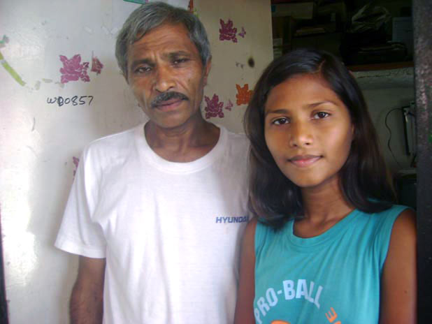Sushma Verma with her father