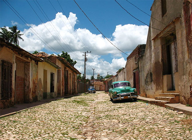 View of a street in Trinidad, Cuba