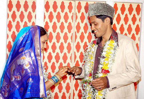 Jeevan Tipke with his wife Shweta Tipke