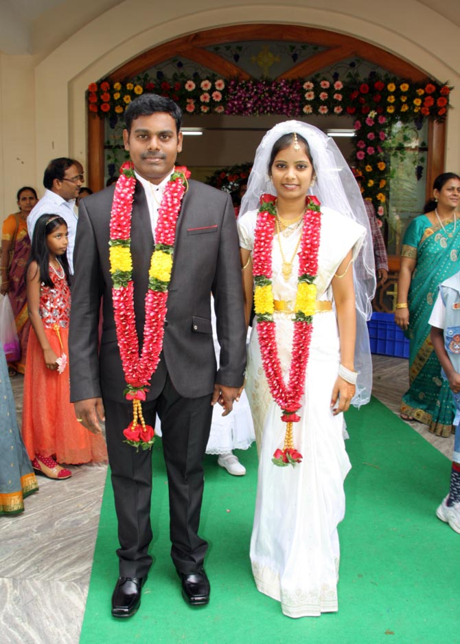 Pradeep Paul with his wife