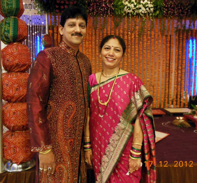 Anil G Gamare with his wife Madhavi