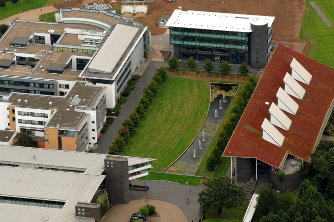 An aerial view of Warwick University