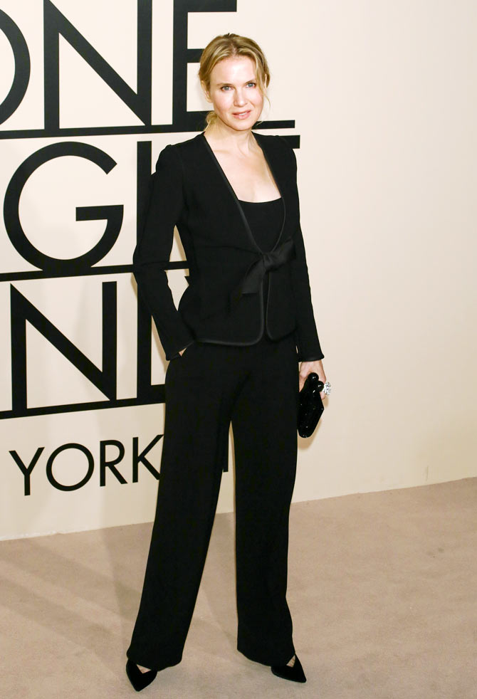 Actress Renee Zellweger attends Giorgio Armani - One Night Only New York at SuperPier in New York.