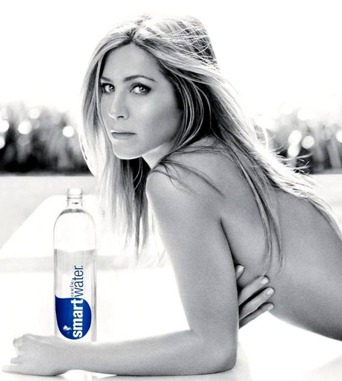 A file picture of Jennifer Aniston starring in a ad campaign for Smartwater.