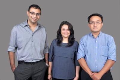 From left: Vivek Jha, Poonam Kanwal and Tenzin Thargay