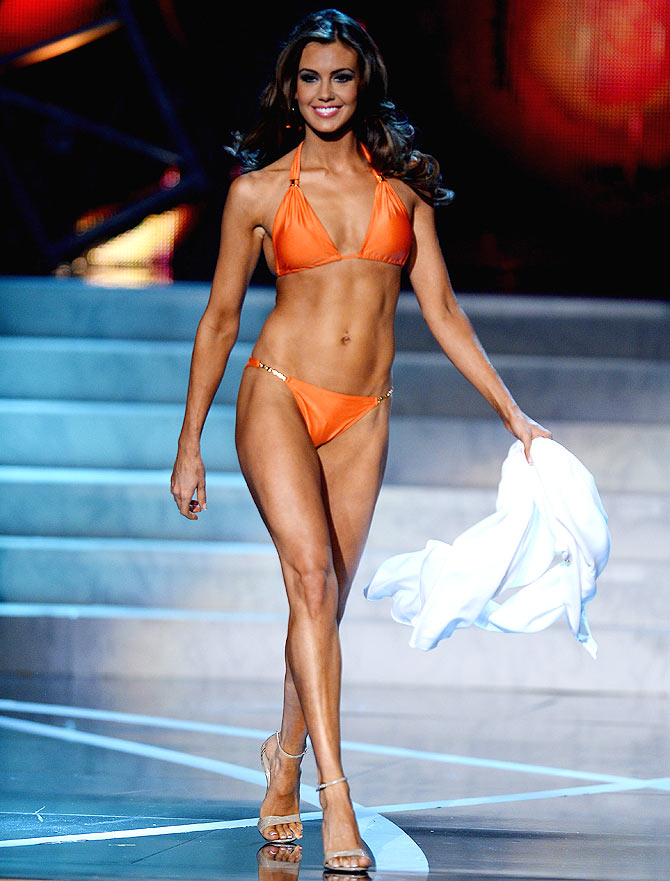 Miss Connecticut USA Erin Brady competes in the swimwear competition during the 2013 Miss USA pageant at PH Live at Planet Hollywood