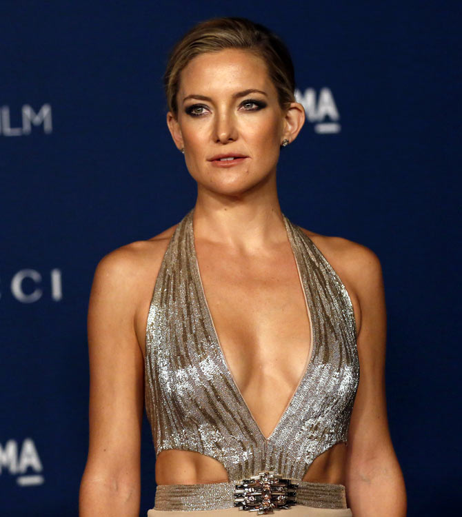 Actress Kate Hudson poses at the Los Angeles County Museum of Art (LACMA) 2013 Art+Film Gala in Los Angeles, California
