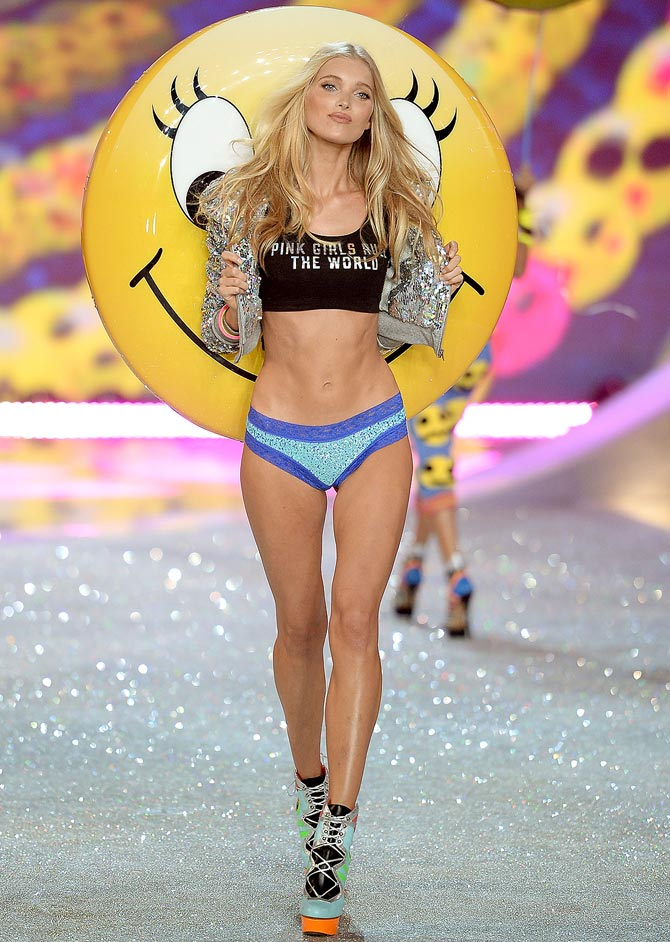 Model Elsa Hosk walks the runway at the 2013 Victoria's Secret Fashion Show at Lexington Avenue Armory in New York City.