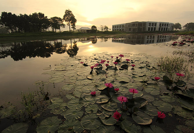 Sunrise at the Royal Hill Golf Resort, Nakhon Nayok, Thailand