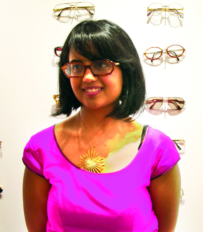 Kajal Sanghrajka presents her niche  eyewear line, Kajal London, along with a  photography exhibit in a Manhattan gallery.