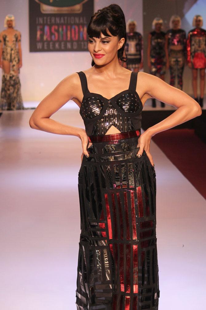 Jacqueline Fernandez for Shane and Falguni Peacock
