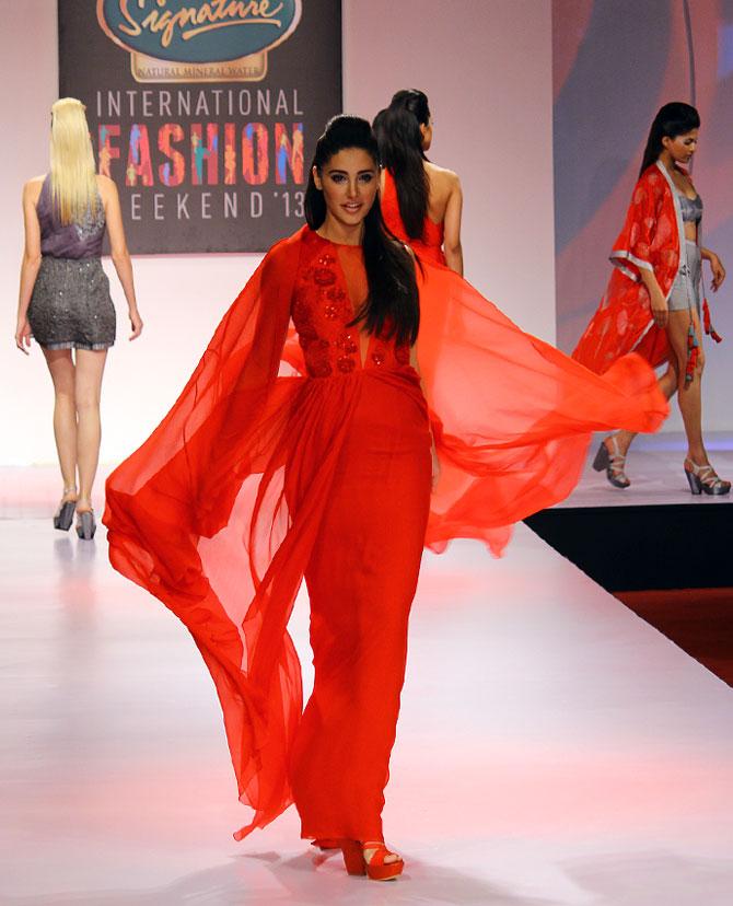 Nargis Fakhri for Nachiket Barve