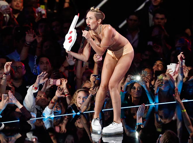 'Twerk' became popular courtesy Miley Cyrus' MTV VMA performance.