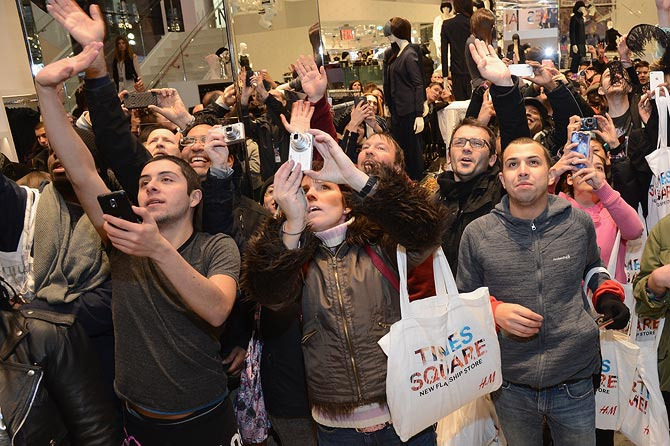 What happens when Lady Gaga goes shopping? NY goes berserk!