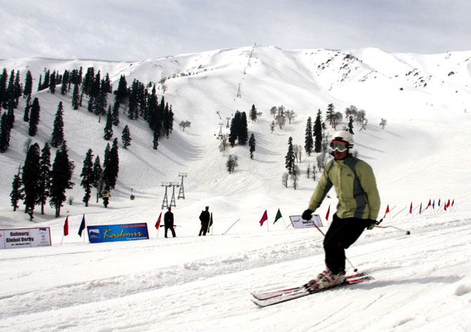 Natural slopes make Gulmarg a much loved skiing destination