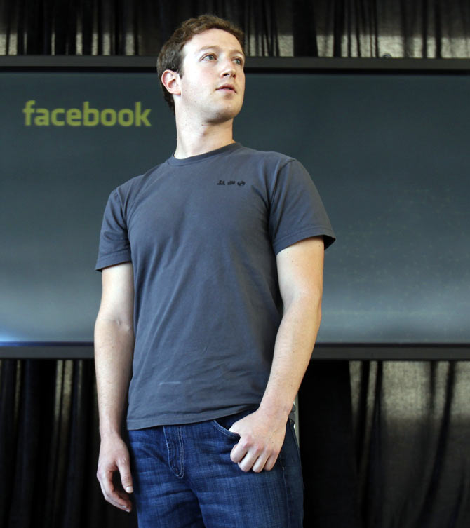 Facebook CEO Mark Zuckerberg listens to a question after introducing a new messaging system during a news conference in San Francisco, California November 15, 2010.