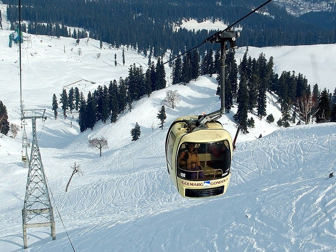 The Gulmarg Gondola Project is one of the highest operational cable cars.