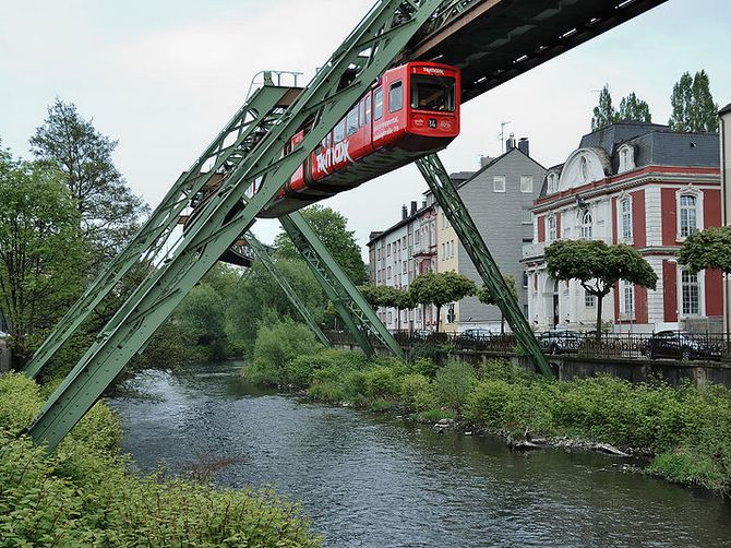 The Wuppertal Suspension Railway is the oldest railway of its kind.