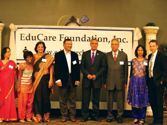 Shweta Katti, second from left, at the EduCare event