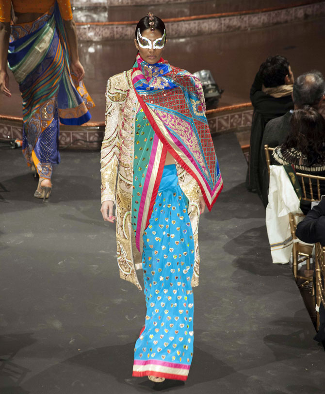 Saris, Anarkalis and more: Manish Arora goes all-Indian in NY