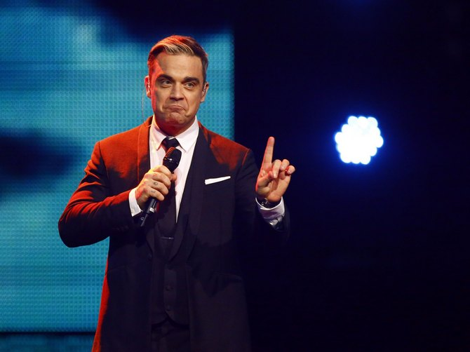 Robbie Williams performs during the Bambi 2013 media awards ceremony in Berlin