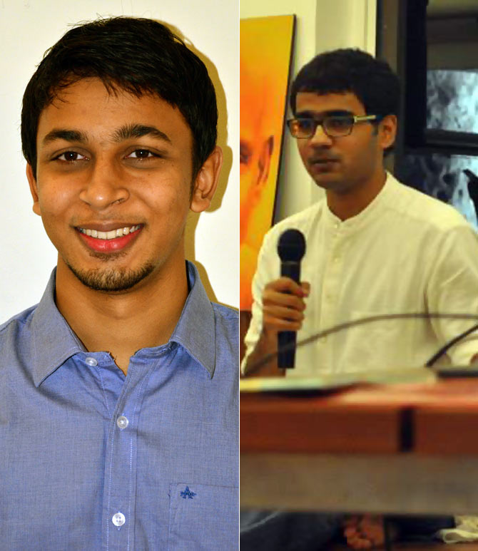 From Left: Vineeth Samdaria and Anirudh Belle
