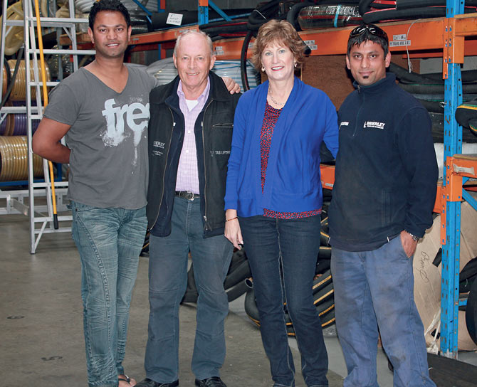 Saroo Brierley with his adopted parents -- John and Sue Brierley and his brother Mantosh who was also adopted by the Australian couple.
