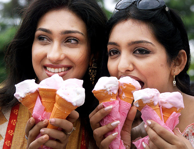Ice-creams besides fried foods, cakes, chocolates and mitahis are a taboo