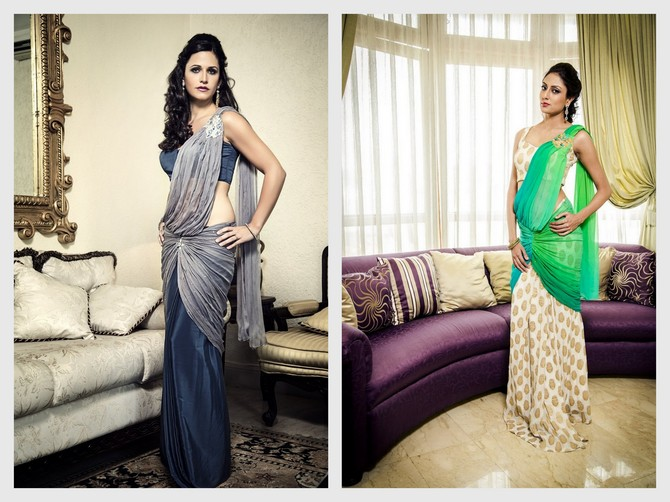 Give the traditional sari a pass and opt for this pre-draped version instead.