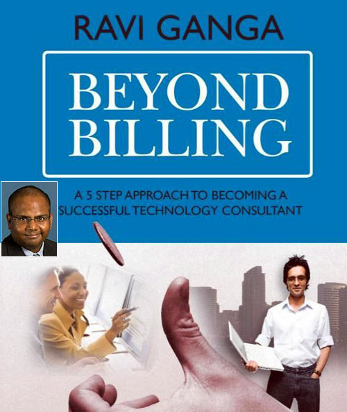 The book cover of Beyond Billing; Inset: Author Ravindran Gangadharan