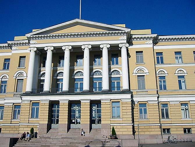 Front facade of main building, University of Helsinki