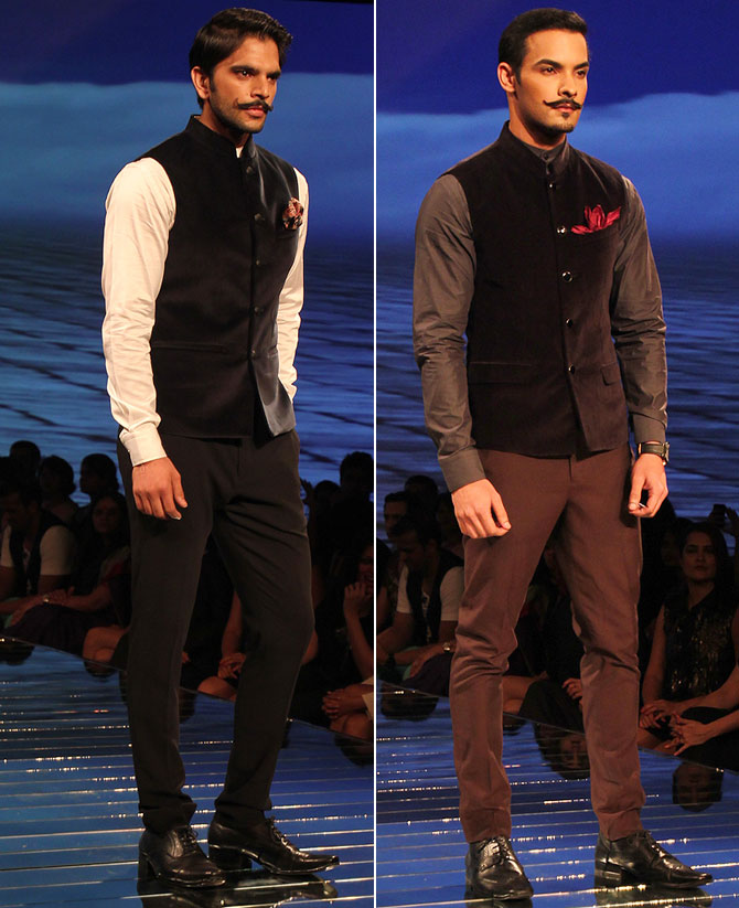 The Nehru Jacket is possibly the easiest to adapt to even if you aren't very fashion forward.