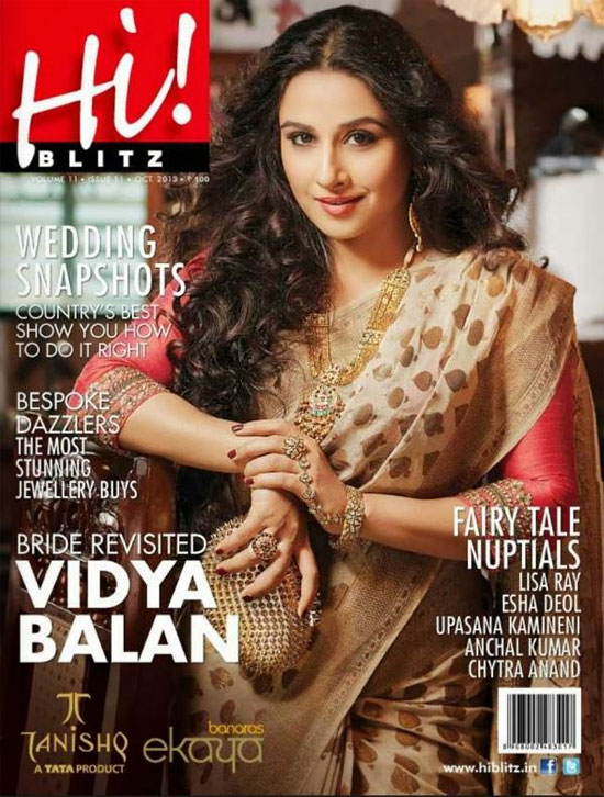 Vidya Balan defines the new sexy in her much feted Indian avatar for the  newest cover of lifestyle magazine Hi! Blitz.