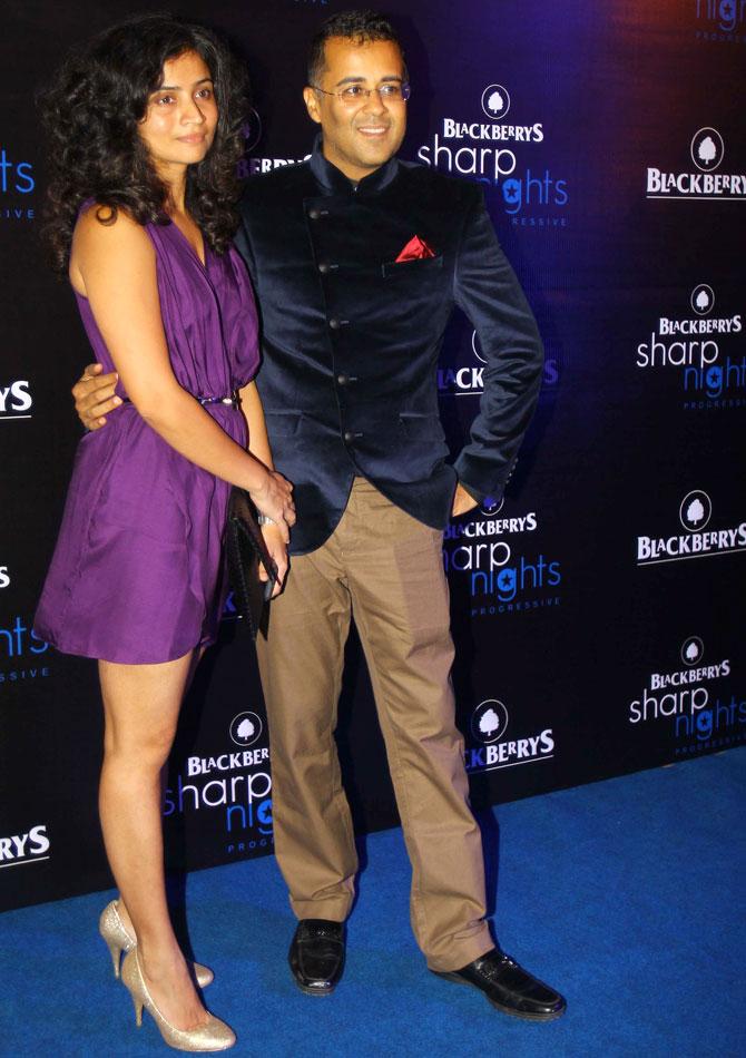 Anusha and Chetan Bhagat