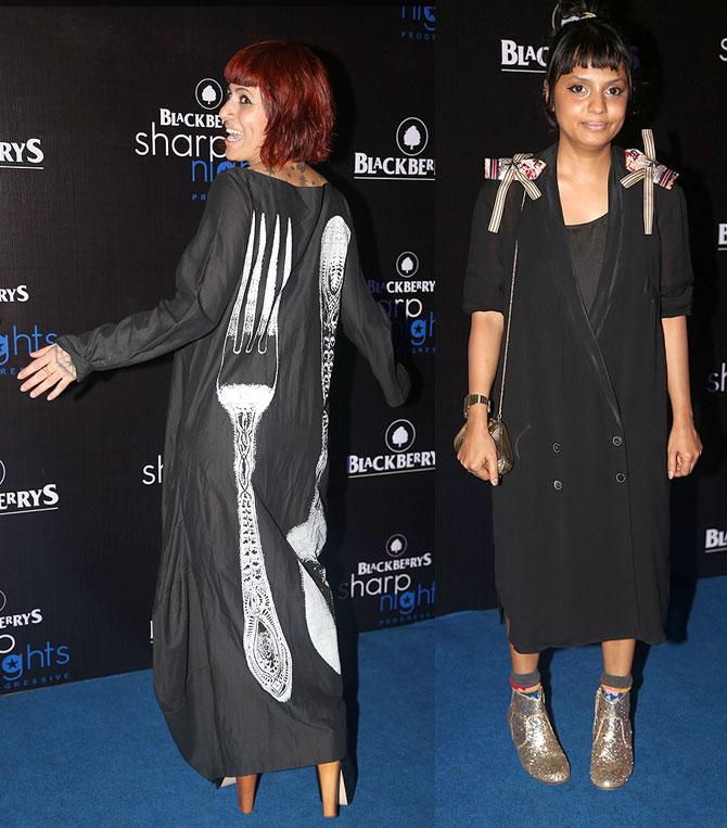 Sapna Bhavnani (L) and Shilpa Chavan