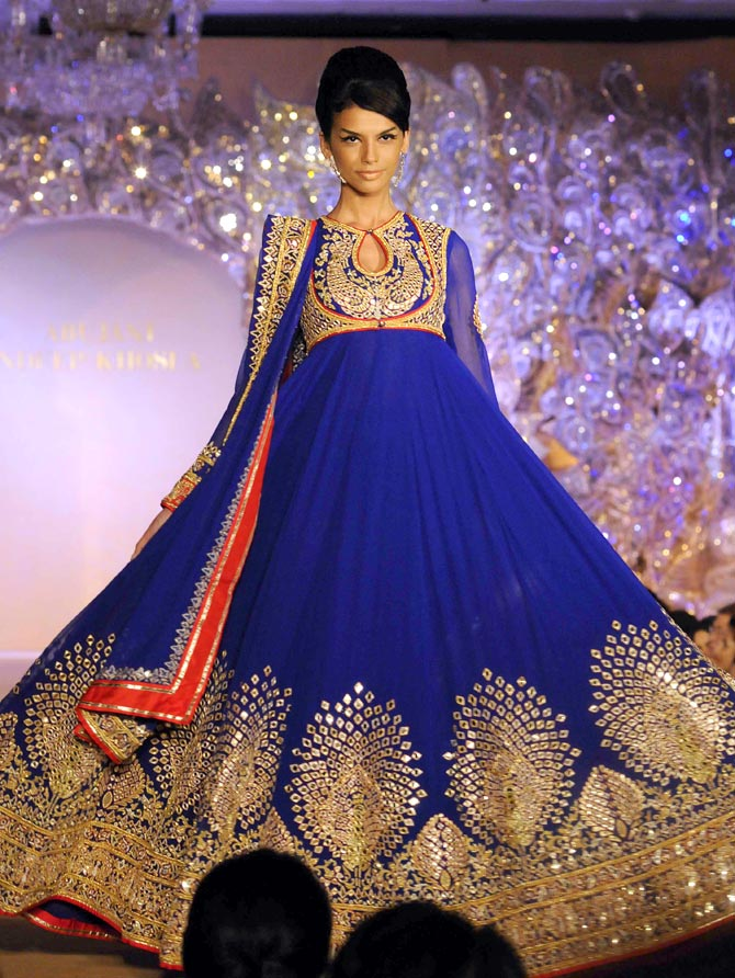 The anarkali is an Abu Jani-Sandeep Khosla favourite.