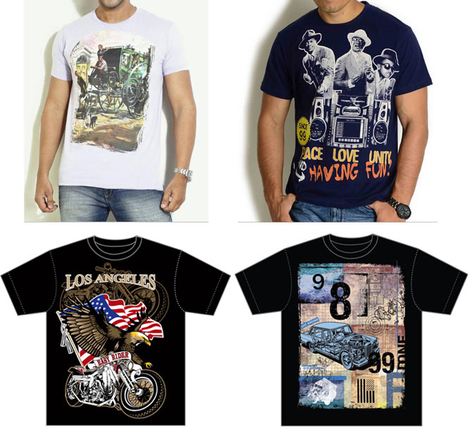 Tee shirts designed by Sanjay Ghosh for Globus