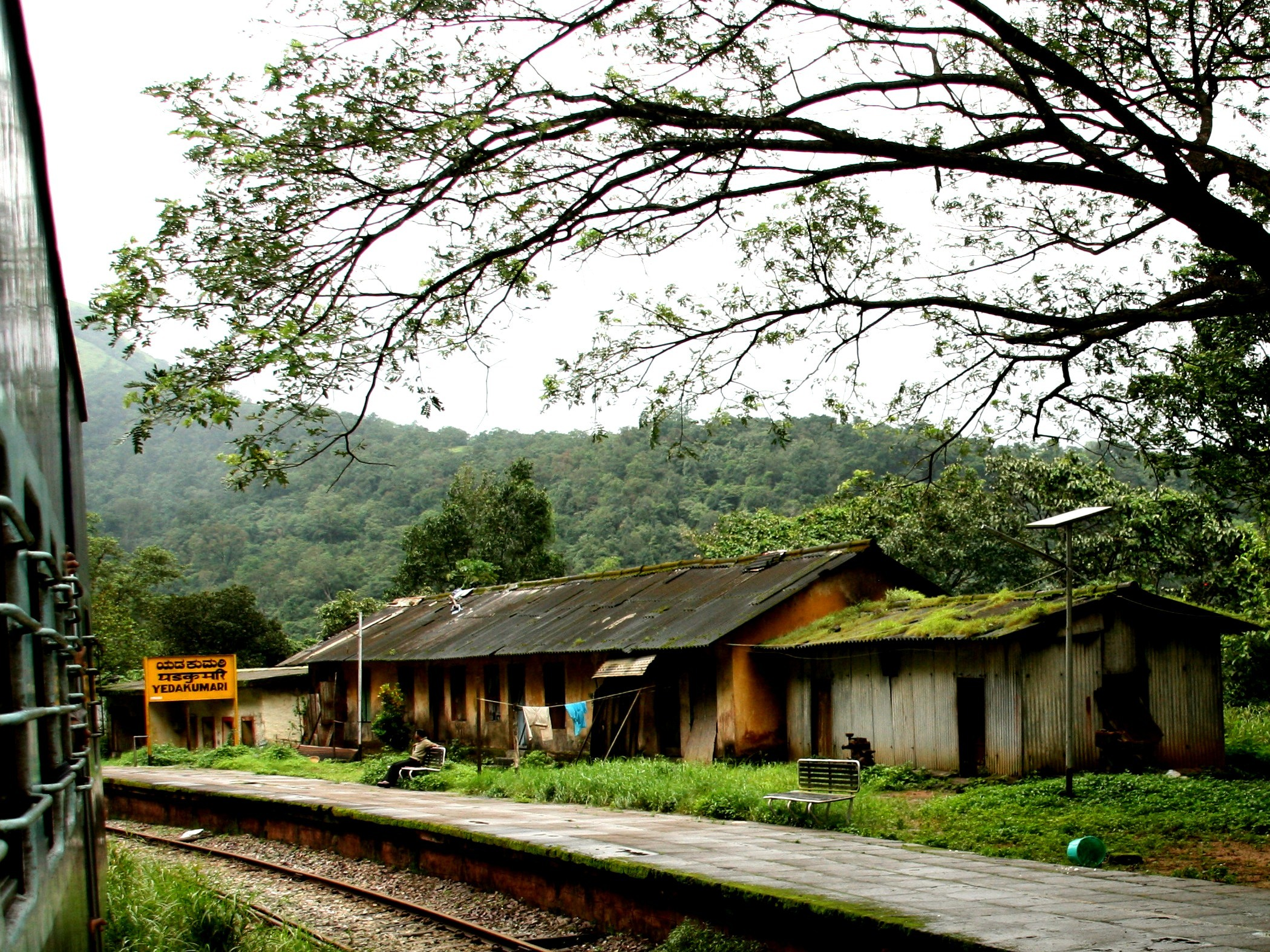 Yadakumari station marks the halfway point of the stretch.