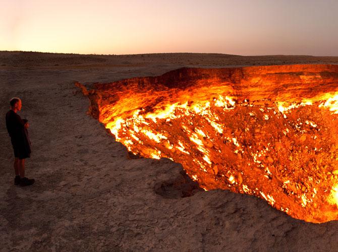 Derweze Gas Crater, Turkmenistan
