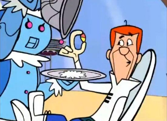 Bite size meals eaten by George Jetson in the Animated comic Sci-fi sitcom The jetsons