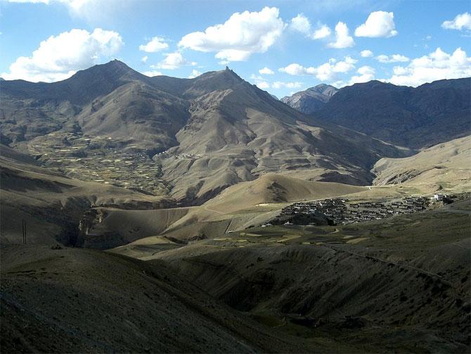 Kibber village, Spiti.
