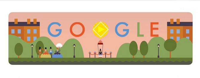 Google celebrates the  anniversary of the world's first successful parachute jump by Andre-Jacques Garnerin.