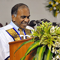 Subra Suresh delivering the keynote address at the 50th Convocation of the Indian Institute of Technology (IIT) Madras in Chennai, India, on Friday, July 19, 2013
