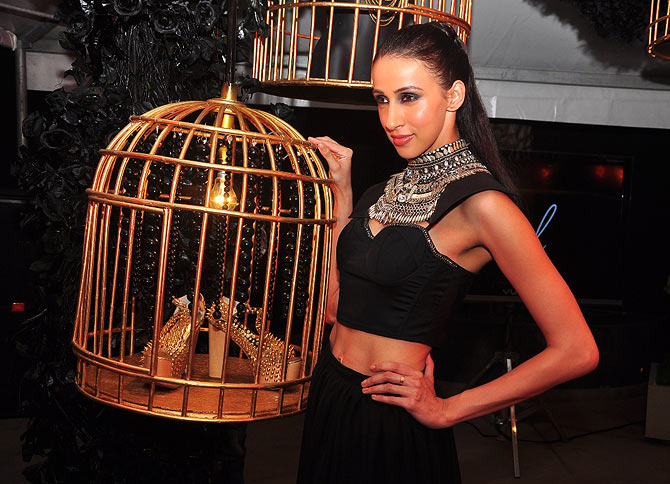 Model Amesia Raut at the Koecsh launch party.