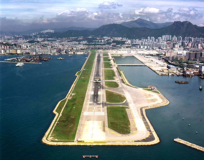 Hong Kong's Kai Tak airport is seen in this recent aerial view