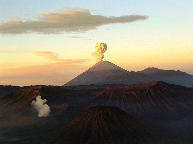 The Mount Bromo volcano on the island Java of Indonesia