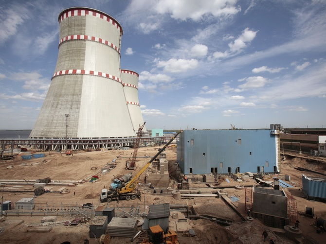 A file picture of the construction at the Kalininskaya nuclear power plant, about 285 km (175 miles) northwest of Moscow.
