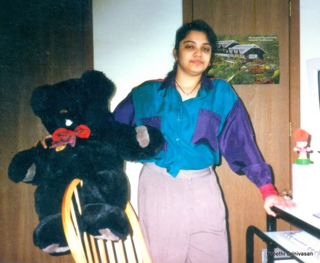Preethi Srinivasan in her Chennai home