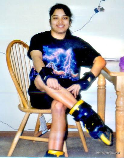 Preethi Srinivasan during her teenage years